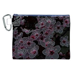 Glowing Flowers In The Dark A Canvas Cosmetic Bag (XXL)