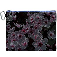 Glowing Flowers In The Dark A Canvas Cosmetic Bag (XXXL)