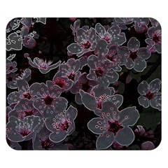 Glowing Flowers In The Dark A Double Sided Flano Blanket (Small)