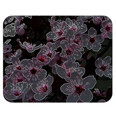 Glowing Flowers In The Dark A Double Sided Flano Blanket (Medium)
