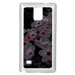 Glowing Flowers In The Dark A Samsung Galaxy Note 4 Case (White)