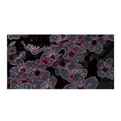 Glowing Flowers In The Dark A Satin Wrap