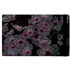 Glowing Flowers In The Dark A Apple Ipad Pro 9 7   Flip Case