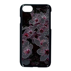 Glowing Flowers In The Dark A Apple iPhone 7 Seamless Case (Black)