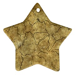 Cracked Skull Bone Surface A Ornament (Star)