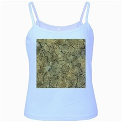 Cracked Skull Bone Surface A Baby Blue Spaghetti Tank