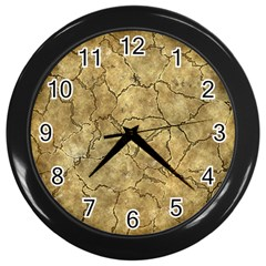 Cracked Skull Bone Surface A Wall Clocks (Black)