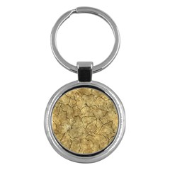 Cracked Skull Bone Surface A Key Chains (Round)