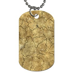 Cracked Skull Bone Surface A Dog Tag (One Side)