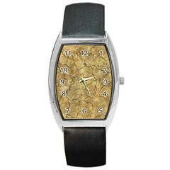 Cracked Skull Bone Surface A Barrel Style Metal Watch