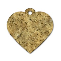Cracked Skull Bone Surface A Dog Tag Heart (One Side)