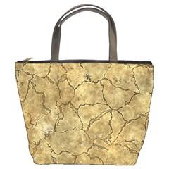 Cracked Skull Bone Surface A Bucket Bags