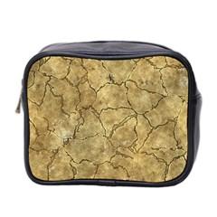 Cracked Skull Bone Surface A Mini Toiletries Bag 2-Side