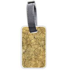 Cracked Skull Bone Surface A Luggage Tags (Two Sides)