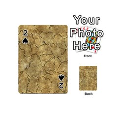 Cracked Skull Bone Surface A Playing Cards 54 (Mini)