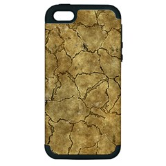 Cracked Skull Bone Surface A Apple iPhone 5 Hardshell Case (PC+Silicone)