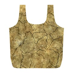Cracked Skull Bone Surface A Full Print Recycle Bags (L)