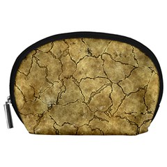 Cracked Skull Bone Surface A Accessory Pouches (Large)