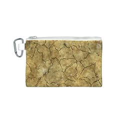 Cracked Skull Bone Surface A Canvas Cosmetic Bag (S)