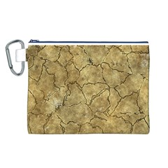 Cracked Skull Bone Surface A Canvas Cosmetic Bag (L)