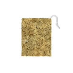 Cracked Skull Bone Surface A Drawstring Pouches (XS)