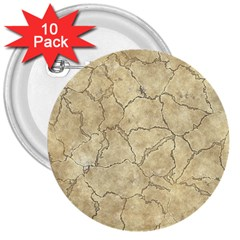 Cracked Skull Bone Surface B 3  Buttons (10 pack)