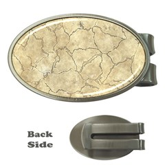 Cracked Skull Bone Surface B Money Clips (Oval)