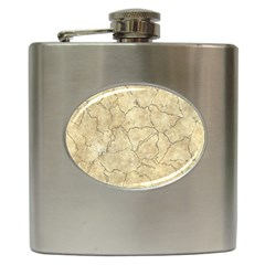 Cracked Skull Bone Surface B Hip Flask (6 oz)