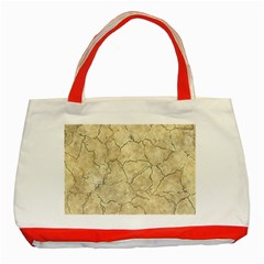 Cracked Skull Bone Surface B Classic Tote Bag (Red)