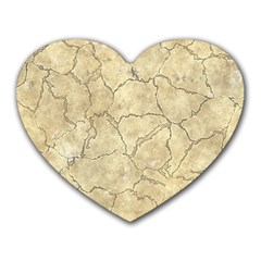 Cracked Skull Bone Surface B Heart Mousepads