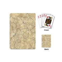 Cracked Skull Bone Surface B Playing Cards (Mini)
