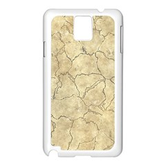 Cracked Skull Bone Surface B Samsung Galaxy Note 3 N9005 Case (White)