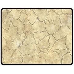 Cracked Skull Bone Surface B Double Sided Fleece Blanket (Medium)