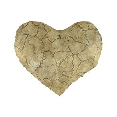 Cracked Skull Bone Surface B Standard 16  Premium Flano Heart Shape Cushions