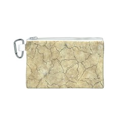 Cracked Skull Bone Surface B Canvas Cosmetic Bag (S)