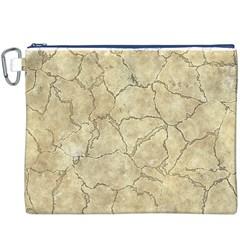 Cracked Skull Bone Surface B Canvas Cosmetic Bag (XXXL)