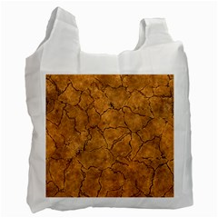 Cracked Skull Bone Surface C Recycle Bag (Two Side)