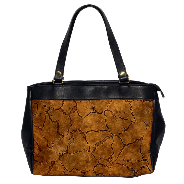 Cracked Skull Bone Surface C Office Handbags