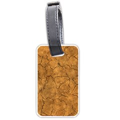 Cracked Skull Bone Surface C Luggage Tags (Two Sides)