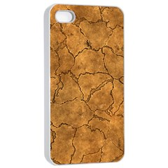 Cracked Skull Bone Surface C Apple iPhone 4/4s Seamless Case (White)