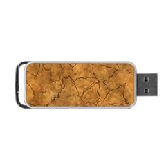 Cracked Skull Bone Surface C Portable USB Flash (One Side)
