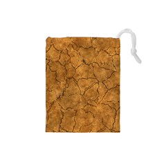 Cracked Skull Bone Surface C Drawstring Pouches (Small)