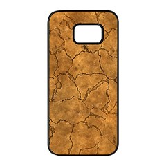 Cracked Skull Bone Surface C Samsung Galaxy S7 Edge Black Seamless Case