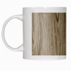 Wooden Structure 3 White Mugs