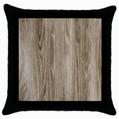 Wooden Structure 3 Throw Pillow Case (Black)