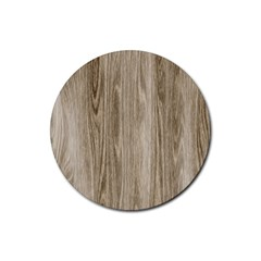 Wooden Structure 3 Rubber Round Coaster (4 pack)