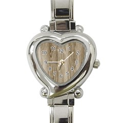 Wooden Structure 3 Heart Italian Charm Watch