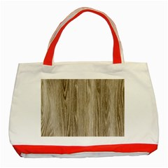Wooden Structure 3 Classic Tote Bag (Red)