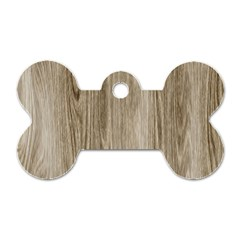 Wooden Structure 3 Dog Tag Bone (One Side)