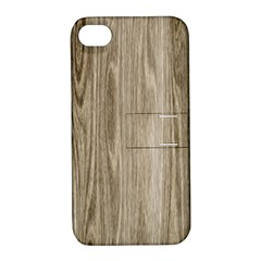 Wooden Structure 3 Apple iPhone 4/4S Hardshell Case with Stand